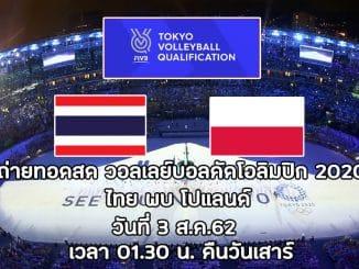 วอลเลย์บอลคัดโอลิมปิก2020ไทยโปแลนด์