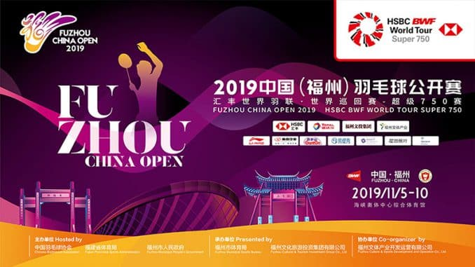 FUZHOU CHINA OPEN 2019
